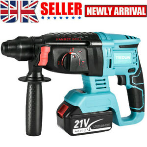 Brushless Cordless Rotary Hammer SDS Plus Rotary Hammer Drill Fast Charger UK