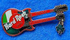 OSAKA JAPAN ST PATRICK'S DAY IRISH FLAG DN GIBSON GUITAR 2000 Hard Rock Cafe PIN
