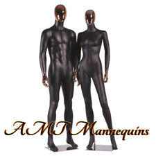 Female +Male Full Body, High End Mannequins,Rose Golden Head Hands, Black Couple