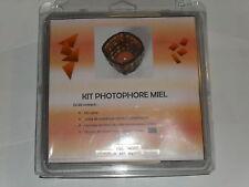 kit photophore miel (un verre, 200g de mosaïque, colle)