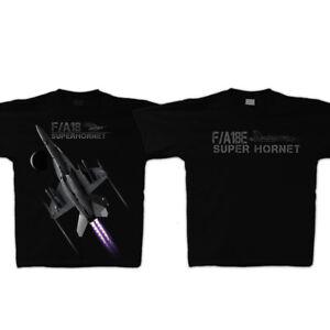 F/A-18 Super Hornet - Black - T-Shirt short sleeve