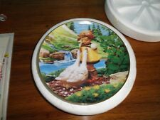 """M I Hummel """"Goose Girl"""" From Gentle Friends Plate yr 1994"""