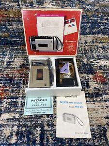 Vtg Hitachi Compact Cassette Tape Recorder Player TRQ-30 Original Box Manual IC