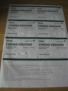 ODEON - 6 x Cinema Tickets - Lloyds Bank - Valid 2D, 3D - Expiry 21/10/21
