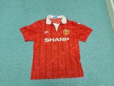 Vintage Manchester United Medium Mens INCE 8 Home Football Shirt
