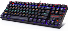Mechanical Gaming Keyboard RGB LED Rainbow Backlit Wired Keyboard with Red Switc