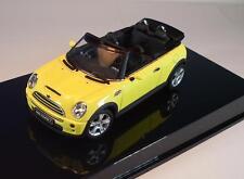 Autoart 1/43 mini cooper s cabrio amarillo OVP #650