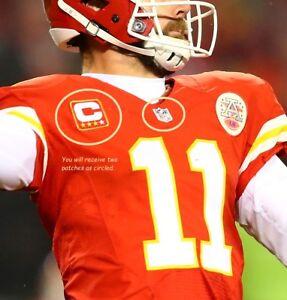 NFL 2017 SEASON CANSAS CITY CHIEFS' Alex Smith 3-⭐CAPTAIN IRON-ON 2-PATCH SET