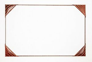 Four Corner Style Half Demy Desk Blotter Writing Pad Croc Grained Leather New
