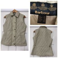 Barbour Women Sport Gilet Cream Size 10 Quilted Good Condition (C441)