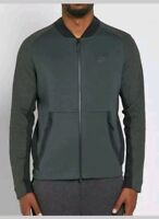 Nike Men's Tech Fleece Varsity Jacket Size  Green Black Small  886617 332