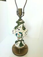 """Vintage Abstract Art Shaped Ceramic Table Lamp Two Dancing Women in Dresses 17"""""""