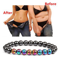 Magnetic Therapy Hematite Stone Beads HealthCare Bracelet Weight Loss Jewelry Sa