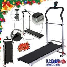 Folding Treadmill Mechanical Support Motorized Cardio...