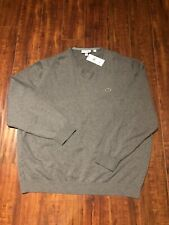 bc51e90aa5fe NWT ~ LACOSTE Mens Jersey Long Sleeve V-Neck Sweater - Size 9 (4XL