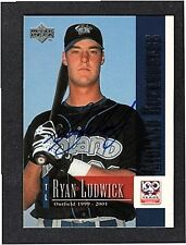 2002 UPPER DECK RYAN LUDWICK-MIDLAND ROCKHOUNDS AUTOGRAPHED CARD-NM