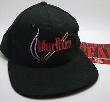 MARLBORO GEAR Hat Cap Black Cigarettes VTG Adjustable Adult One Size Fits All
