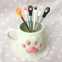 Cute Cat Claw Stainless Steel Coffee Drink Spoon Tableware Kitchen Supplies A
