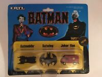 Collection of ERTL Micro Machine Batman Collection incl Joker Van, Batmobile++