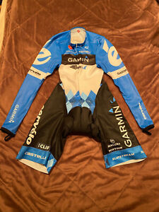 CASTELLI Cycling Long Sleeve Skinsuit BRAND NEW GARMIN ORIGINAL SIZE L Unisex