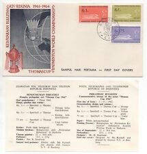 1961 INDONESIA First Day Cover BADMINTON THOMAS CUP + Information Sheet
