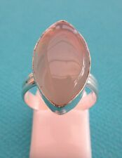925 Sterling Silver Ring With Marquise Cut Smoky Quartz UK M1/2,US 6.50 (rg2336)