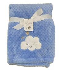 BLANKET PLUSH - DUCK DUCK GOOSE BOYS - CLOUDS TEXTURED - BABY TODDLER CRIB BED
