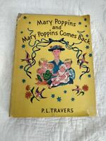Mary Poppins and Mary Poppins Comes Back 1st Deluxe Edition 1946 P. L. Travers