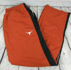 Vintage Starter UT Texas Longhorns Orange NCAA Warmup Pants Mens Size Large