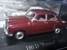 "Mercedes Benz / 180 D ""Ponton"" / 1954/  Modellauto /Dunkelrot /unbespielt / 1:43"