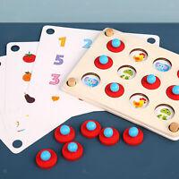 Kids Toddler Wooden Memory Match Chess Game Fun Block Board Educational Toys