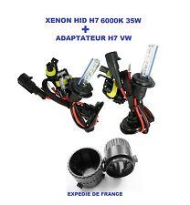 ADAPTATEUR + AMPOULES VW GOLF 6 XENON HID H7 35W 6000K