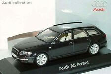 RARE AUDI A6 C6 4F V6 3.2 QUATTRO AVANT BLACK 1:43 MINICHAMPS (DEALER MODEL)