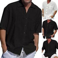 Herren Hemd Hemden Kurzarmhemd Sommerhemd Freizeithemd Regular Fit Herrenhemd DE