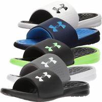 89b5a0c122ad4 Men Under Armour Micro G Compression EV Slide Sandals - 1243636 ...