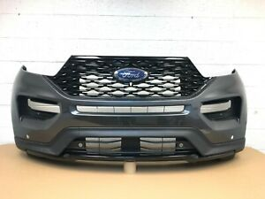 2020-2021 ford explorer front bumper w/ 4sensor hole & camera spot -mgnetic #4