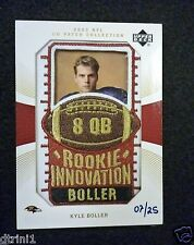 2003 UD Patch Collection Gold Patches Rookie Innovation Kyle Boller #02/25