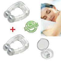 2pcs Nose Clip Nez Anti Ronflement Apnée du sommeil Écarteur Nasal Narine Bague