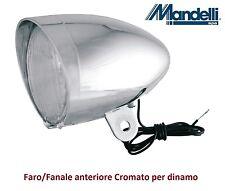 0125 - Faro/Fanale Anteriore Cromato a dinamo per Bici 26-28 R Viaggio bacchetta