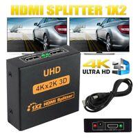 HD 1080P 3D 1 IN 2 4K HDCP Stripper 1 × 2 HDMI Splitter Switcher Für HDTV .