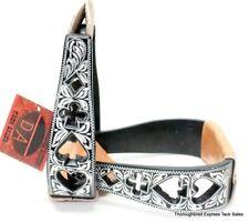 D.A. Brand Black Aluminum Poker Design Cutouts Stirrups Horse Tack Stirs-0016