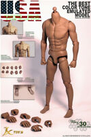 "1//6 Male imité fort musclé body jxtoys S03 12/"" zc HOT TOYS FIGURE ❶ USA ❶"