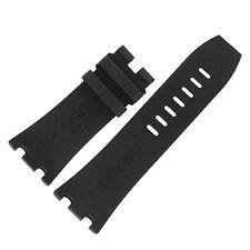 Audemars Piguet 30 - 24 mm Royal Oak Offshore Black Rubber Men's Watch Band