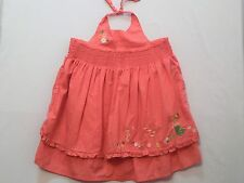 """Gymboree """"Coral Reef"""" Mermaid Seahorse Shell Flowers Coral Pink Halter Dress, 3T"""