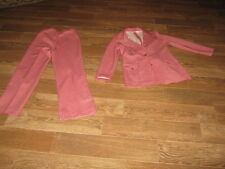 Original Vintage Queen Casuals Red and White Pants Suit Size 11 / 12