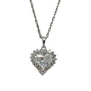 Stauer Sterling Silver CZ True Heart Pendant/ Necklace