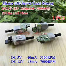 Mini 130 Servo Worm Gear Motor DC3V-12V 32-Line-AB-Phase Speed Encoder Code Disk