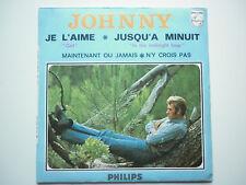 Johnny Hallyday 45Tours EP vinyle Je L'Aime / Jusqu'a Minuit papier