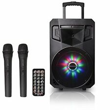 Pure Acoustics Wireless Portable Bluetooth Audio Speaker with LED Party Lights