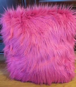 "NEW Pottery Barn Teen Fur-Rific SMALL MEDIUM 36"" Beanbag Slipcover DEEP PINK"